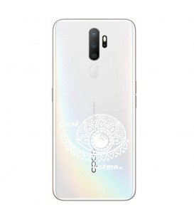 Coque OPPO A5 A9 2020 karma good vibes blanc personnalisee