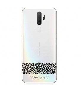 Coque OPPO A5 A9 2020 dentelle leopard noir personnalisee