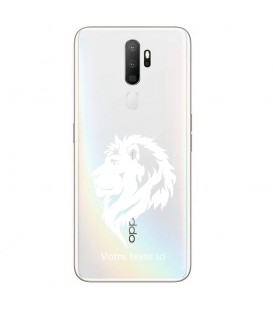 Coque OPPO A5 A9 2020 lion blanc personnalisee