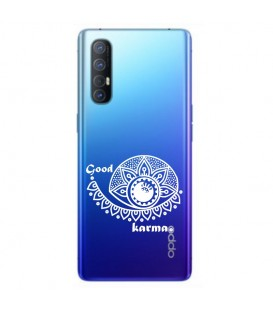 Coque OPPO X2 NEO karma good vibes blanc personnalisee