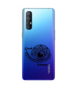 Coque OPPO X2 NEO karma good vibes noir personnalisee