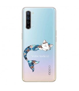 Coque OPPO X2 LITE Chat sirene personnalisee