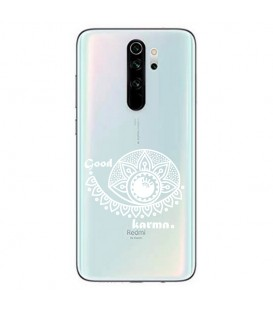 Coque Redmi Note 8 PRO karma good vibes blanc personnalisee