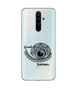 Coque Redmi Note 8 PRO karma good vibes noir personnalisee