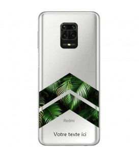 Coque Redmi Note 9 chevron jungle personnalisee
