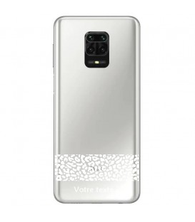 Coque Redmi Note 9 dentelle leopard blanc personnalisee