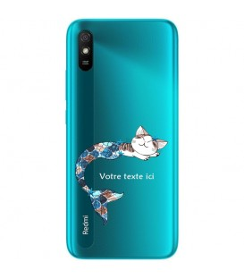 Coque Redmi 9A Chat sirene personnalisee