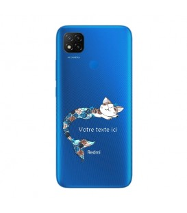 Coque Redmi 9C Chat sirene personnalisee