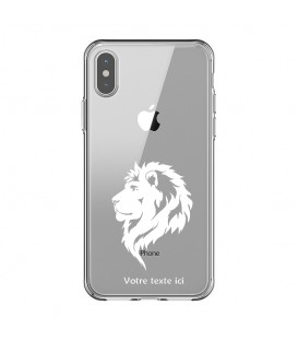 Coque Iphone XR lion blanc personnalisee