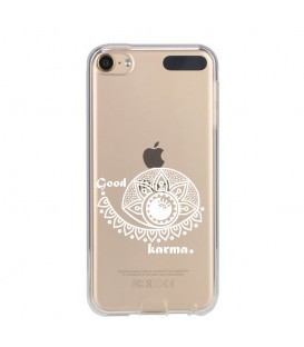 Coque Ipod Touch 5 6 karma good vibes blanc personnalisee