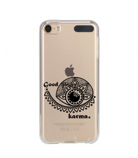 Coque Ipod Touch 5 6 karma good vibes noir personnalisee