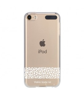 Coque Ipod Touch 5 6 dentelle leopard blanc personnalisee