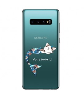 Coque Galaxy S10 PLUS Chat sirene personnalisee