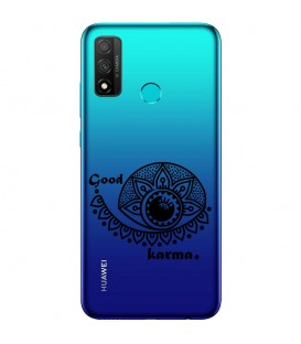 Coque Honor 9X P Smart Z karma good vibes noir personnalisee