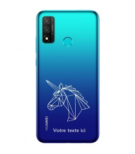 Coque Honor 9X P Smart Z licorne geo blanc personnalisee