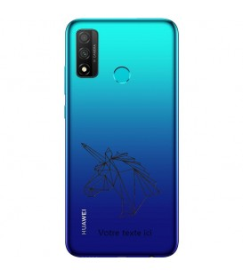 Coque Honor 9X P Smart Z licorne geo noir personnalisee
