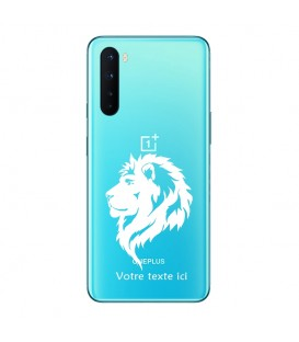 Coque OnePlus NORD lion blanc personnalisee