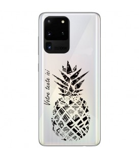 Coque Galaxy Note 20 ULTRA ananas noir personnalisee
