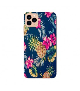 Coque Iphone 12 PRO MAX Ananas Fleur rose Tropical Exotique
