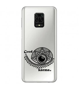 Coque Redmi Note 9 PRO karma good vibes noir personnalisee