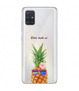 Coque OPPO A53 A53S ananas lunettes personnalisee fleur