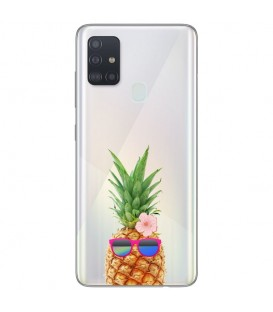Coque OPPO A53 A53S ananas lunettes tropical fleur