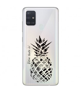 Coque OPPO A53 A53S ananas noir personnalisee
