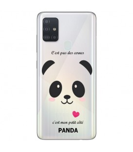 Coque OPPO A53 A53S panda coeur rose cute kawaii