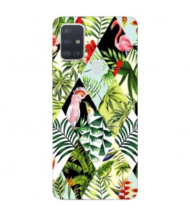 Coque OPPO A53 A53S perroquet patchwork flamant tropical