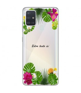 Coque OPPO A53 A53S personnalisee fleur exotique tropical