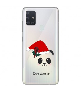 Coque OPPO A53 A53S panda noel personnalisee