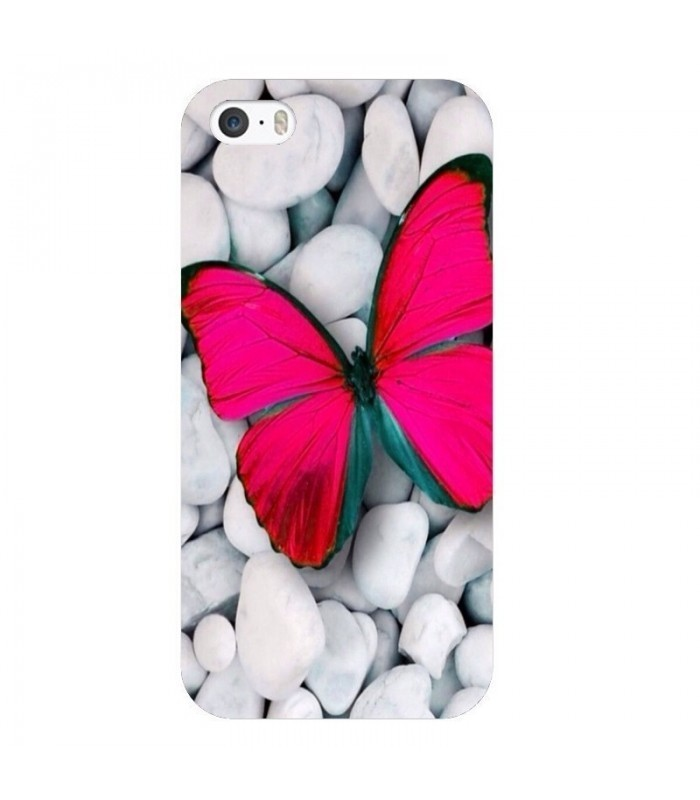 coque iphone 6 6s papillon rose fushia butterfly